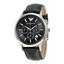 emporio armani chronograph black dial men s watch ar2447 emporio emporio armani chronograph black dial men s watch ar2447