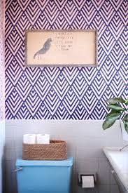 Wallpaper Look with a Geometric Stencil ...