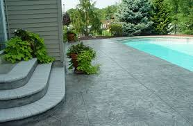 stamped concrete patio stairs ideas and around small pool for patio backyard stamped concrete patio designs