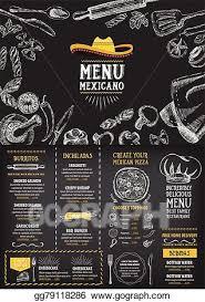 Cafe Menu Template Vector Art Restaurant Cafe Menu Template Design Food