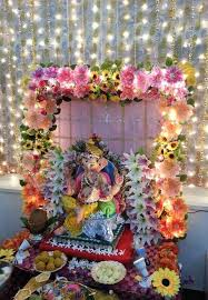 ganpati decoration at home simple art pinterest ganesh