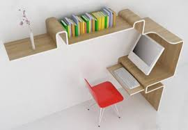 The idea is that I will have a corner desk which at one end has the desk  curved under the computer tower (also acts as a support) and then it bends  around ...