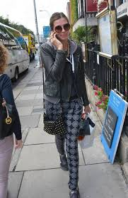 model aoife cogan spotted walking in stephens green area