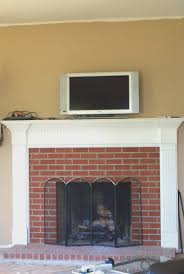 fireplace creative decorating fireplace mantel with tv above home design ideas photo with furniture design