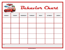 13 Best Photos Of Behavior Chart Free Printable Templates