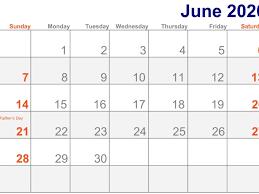 june 2020 calendar with holidays us uk