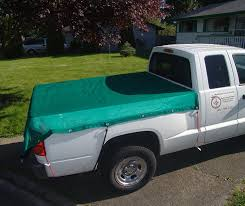Mesh Tarp, 6'x8' for Pick-Up Trucks, Green. Cover Your Pick-Up Bed ...