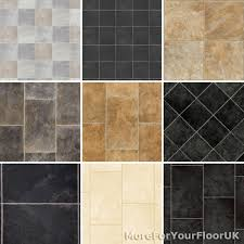 details about new tiled effect vinyl flooring roll quality lino stone slate granite