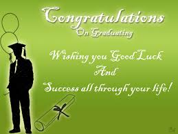 Graduation Wishes Quotes Mesmerizing Congratulations On Graduating Wishing You Good Luck And Success All