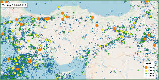 turkey physical features. Brilliant Features Map Of Earthquakes In Turkey 19002017 To Physical Features M