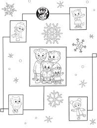Pbs Kids Holiday Coloring Pages Printables Happy Holidays Daniel