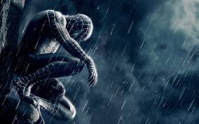 black spiderman iphone hd wallpaper