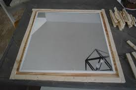 wood mirror frame. Lining Up Wood Mirror Frame