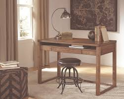 baybrin modern contemporary rectangular wood desk with black swivel stool and gray and black striped pouf