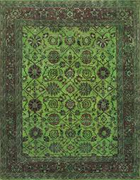 rugsville lime green wool overdyed 12215 rug