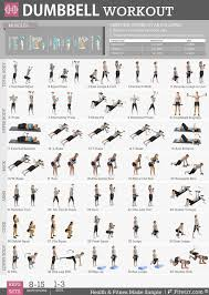 fitwirr dumbbell workout poster 19x27 dumbbell exercises poster home gym weight lifting routine fitness program for women tone tighten your abs