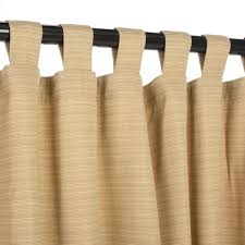 sunbrella dupione bamboo outdoor curtain with tabs