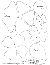 Paper Flower Template Free Template 3d Paper Flowers Template Flower Templates Pattern Free