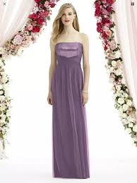 After Six Smashing Plum Sparkling New Dessy 6743 Modern Bridesmaid Mob Dress Size 10 M 86 Off Retail