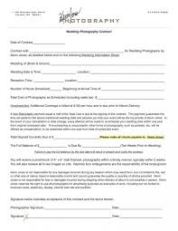 Wedding Photography Contract Form Download Our Sample Of Wedding Photography Contract Top Template