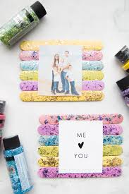 glitter popsicle frames a colorful and sparkly popsicle stick frame to show off some of your favorite images