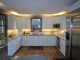 above cabinet lighting ideas. white kitchen with under cabinet and above lighting led ideas
