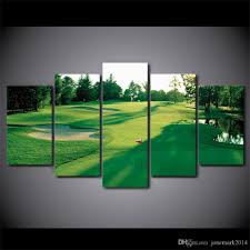 canvas art hd printed golf course green land wall canvas pictures for living room bedroom modular home decor by jonemark2016 dhgate com