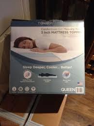 novaform topper. novaform comfortluxe gel memory foam mattress topper m