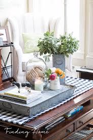 farmhouse coffee table decor