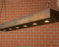 rustic lighting reclaimed wood light dining room lighting fixture with led lamps and rusted chain farmhouse chandelier rustic wooden light fixtures96