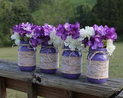 Wedding Decor With Mason Jars Purple mason jars Etsy 27