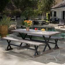 rustic outdoor dining table. Rustic Outdoor Furniture Farmhouse Style Options The Country Dining Table A