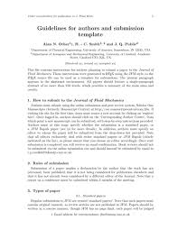 template for submissions to journal journal of fluid mechanics cambridge latex template