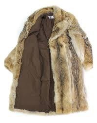 513269 new natural mens coyote fur full length coat stroller notch collar 2xl