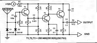 vhf uhf tv antenna booster circuit diagram images wideband uhf amplifier antenna tv amplifier circuit