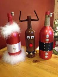 How To Decorate A Wine Bottle For Christmas Santa Claus Wine Bottle Christmas gifts Santa and Bottle 27