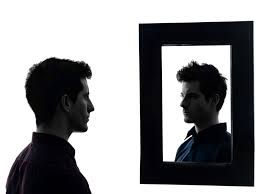 looking in mirror. Simple Mirror Holding Up The Mirror What Do You See For Looking In Mirror T