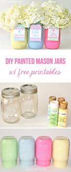 diy painted mason jars with free tags these make a cute and inexpensive gift for