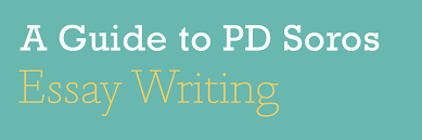 p d soros fellowship for new americans applicant guide to pd  essaywriting