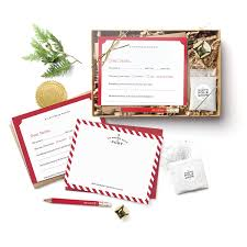 Santa Claus Letter 12 PC Kit Letters To & From Santa, Official Santa Seals,  Bag of Snow, Jingle Bell & Mini Pencil