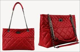 faye quilted leather tote bag | BagInc & Faye Quilted Leather Tote Bag Red Adamdwight.com