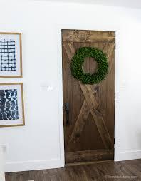 barn door from an old solid core door makeover remodelaholic 65