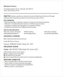 Security Guard Resumes 10 Free Word Pdf Format Download Resume