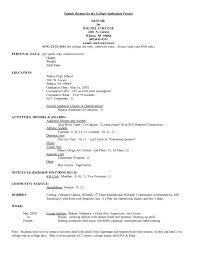 College Application Resume Template Bravebtr