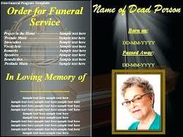 How To Make A Funeral Program Free Memorial Service Program Free Memorial Service Program