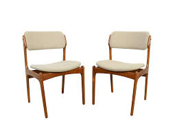 teak dining chairs erik buck danish modern od mobler