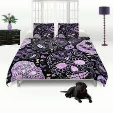 skull bedding duvet comforter cover set sugar skulls for queen idea 9