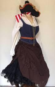 Large <b>Women's</b> Renaissance <b>Pirate</b> Costume with Belts ...