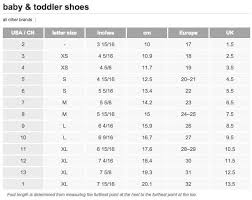 Ballet Shoe Size Chart Size Chart For Toddler Ballet Shoes Target Junior Sizing