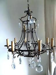 wrought iron crystal chandelier mini chandeliers medium size of lighting with shades